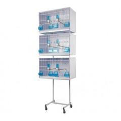 Batterie de 3 cages 58x30x36 - New Canariz