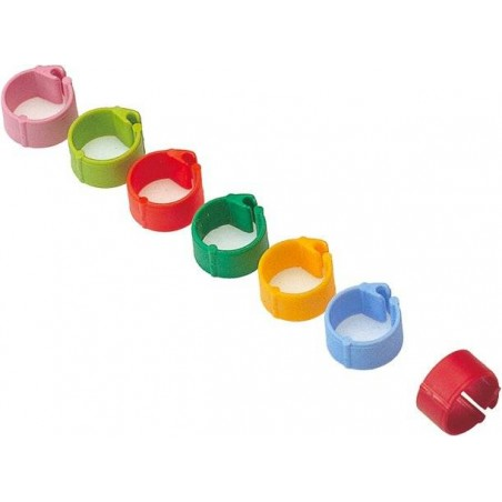 Rings plastic click pigeon 8mm - 100 pieces - Benelux