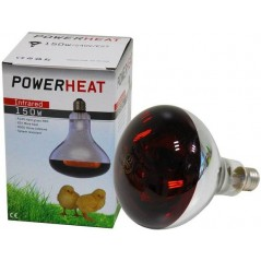 Infrared lamp 150W (glass red) - Powerheat