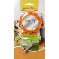 Miroir fleur en plastique avec cloche et mangeoire 14040 Benelux 3,45 € Ornibird