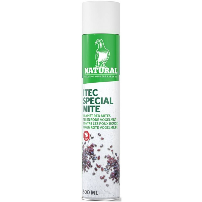 ITEC Spray special mite, contre les poux rouges 500ml - Natural Pigeons 200100 Natural 15,75 € Ornibird