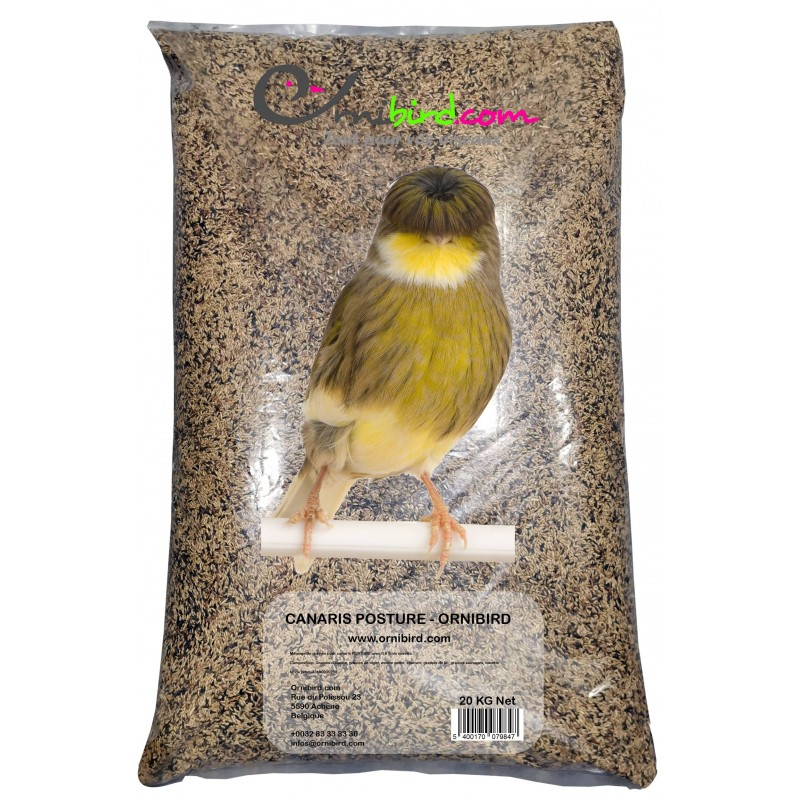 Mistura de sementes para canários de POSTURA sem transporte de 20kg (PRÊMIO ESPECIAL) - Ornibird 7001201 Private Label - Orni...