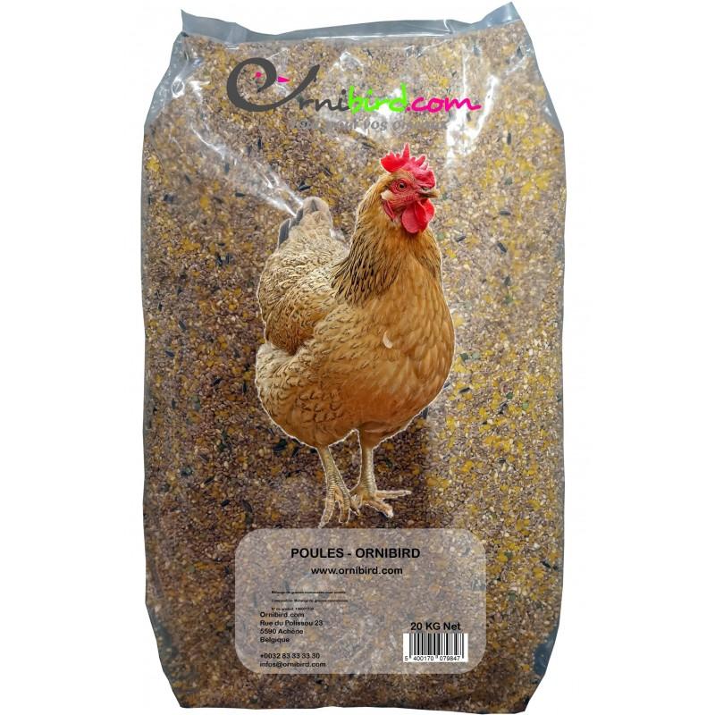 Poules - Ornibird, mélange concassé pour poules 20kg 700128 Private Label - Ornibird 7,95 € Ornibird