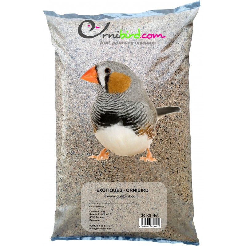 Exotiques - Ornibird, mélange pour exotiques 20kg 700121 Private Label - Ornibird 19,95 € Ornibird