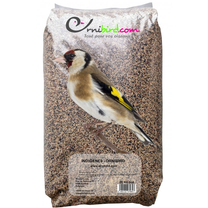 Indigènes - Ornibird, mélange pour indigènes 20kg 700124 Private Label - Ornibird 22,95 € Ornibird