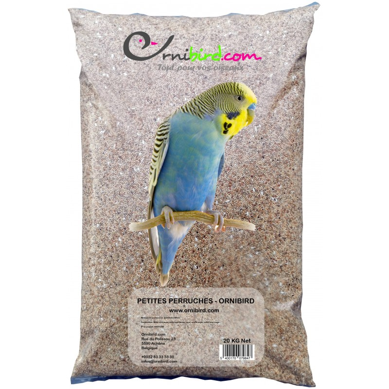 Petites perruches - Ornibird, mélange pour petites perruches 20kg 700123 Private Label - Ornibird 15,95 € Ornibird