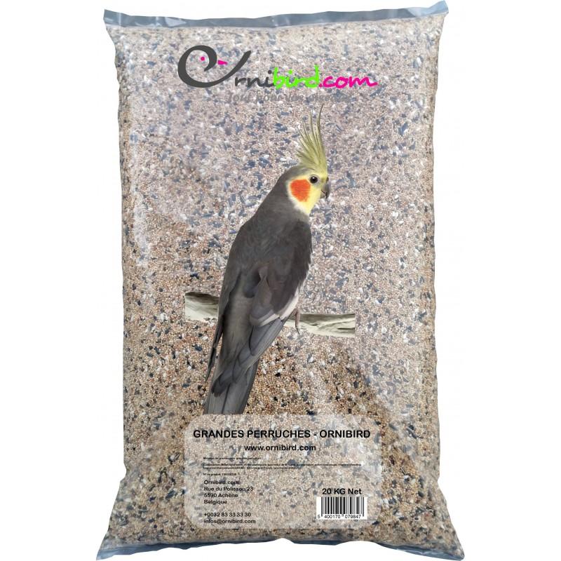 Grandes Perruches - Ornibird, mélange pour grandes perruches 20kg 700122 Private Label - Ornibird 16,95 € Ornibird