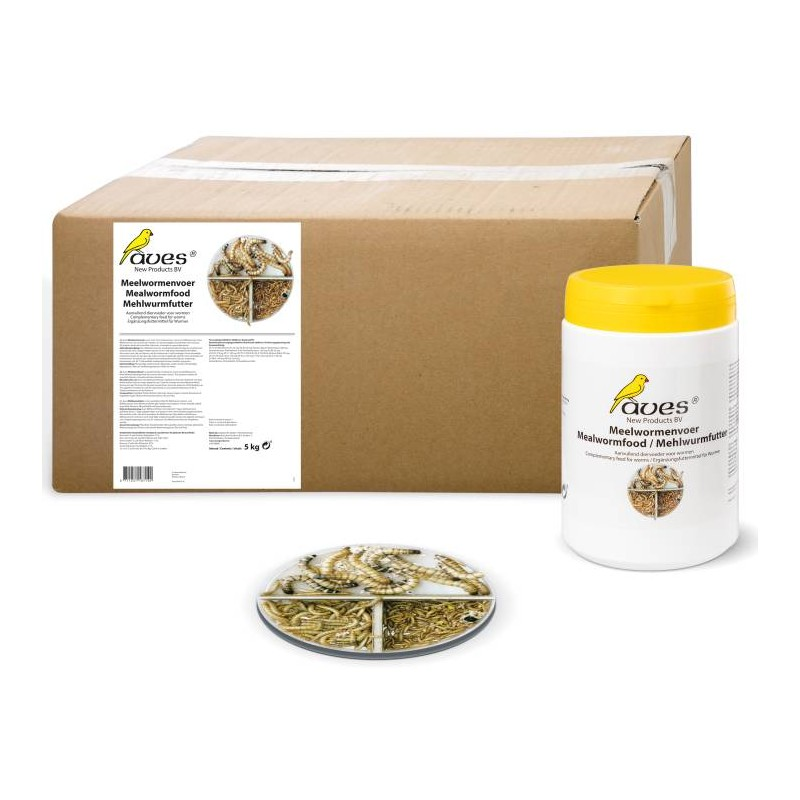 Meelwormenvoer / Mealworm Feed 5kg - Aves 18714 Aves 119,00 € Ornibird