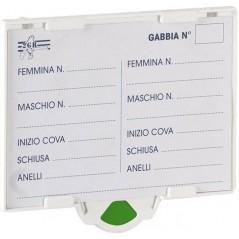 Porte carte d'elevage Twister avec indication par 4 couleurs - 2G-R 384 2G-R 1,60 € Ornibird