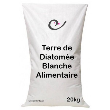 Diatomaceous earth food white 20kg - Ornibird