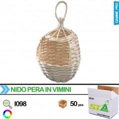 Nid en osier en forme de goutte - Carton de 50 pièces - S.T.A Soluzioni I098/BOX S.T.A. Soluzioni 115,00 € Ornibird