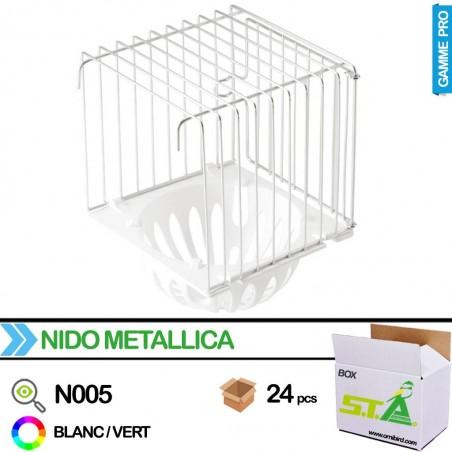Nid externe en métal avec fond en plastique - Carton de 24 pièces - S.T.A Soluzioni