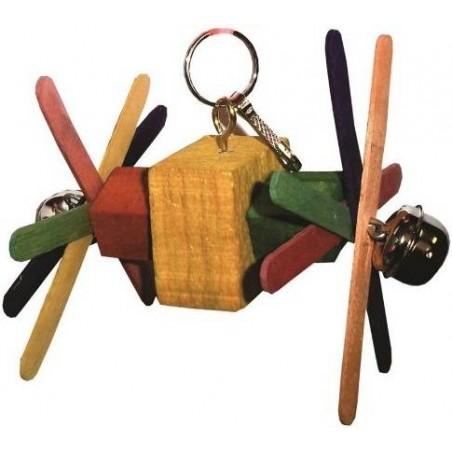 Jouet petit jeu en bois 11cm avec deux cloches