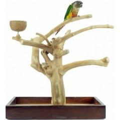 Aire de Jeux en bois de Java avec socle - Small ZF1112 Private Label - Ornibird 75,23 € Ornibird