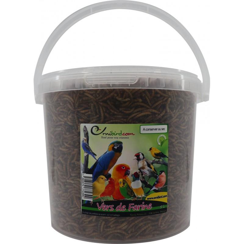 Mealworm, vers de farine déshydratés, seau de 5L 10630-5L Private Label - Ornibird 13,95 € Ornibird