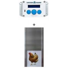 Ensemble Ouvre-trappe automatique Premium et Porte en Aluminium version Poule - Chickenguard RCGPKIP ChickenGuard 174,95 € Or...