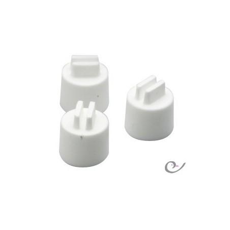Perchas de plástico de 10 mm