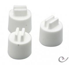 Plástico poleiros 15mm