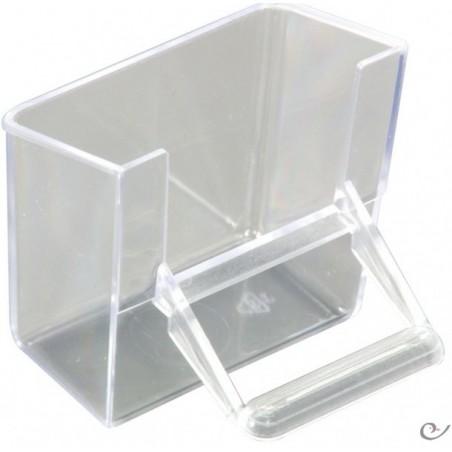 Mangeoire façade transparent 7x4x7cm
