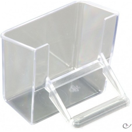 Manger voorzijde transparant 7x4x7cm