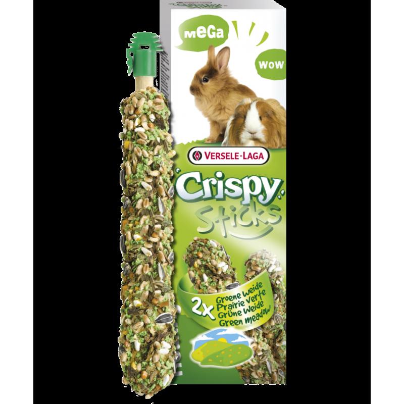 Crispy Mega Sticks Lapins-Cobayes Prairie Verte 2 pcs 140gr - Sticks à ronger cuits au four - XL 462061 Versele-Laga 3,35€ O...