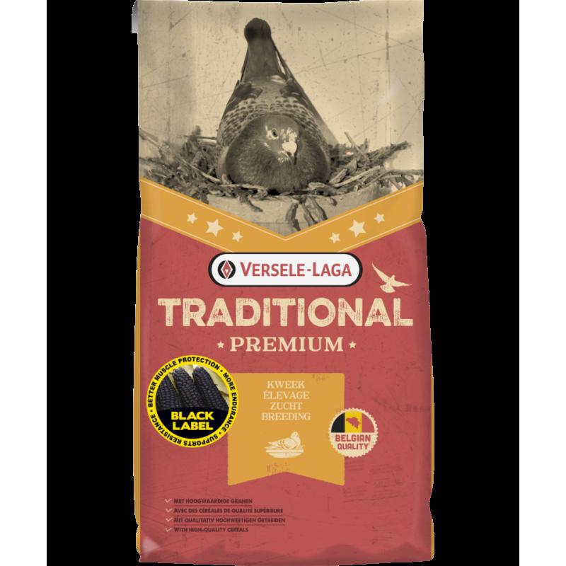 Traditional Premium Black Label Master Elevage 20kg - Mélange de qualité pour l'élevage au maïs noir et bordeaux 411257 Verse...