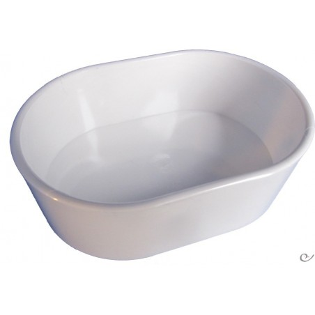 Mangeoire Plastique Ovale Blanc 11x8x4cm