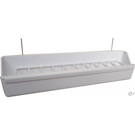 Mangeoire volière blanc 30x5x5,5cm