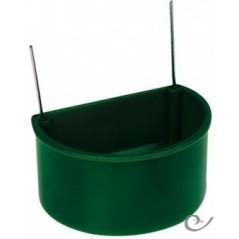 Futtertrog grün mit haken, großes modell, 7x5.5x4 cm