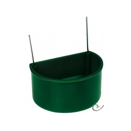 Mangeoire verte avec crochets grand modèle 7x5,5x4 cm