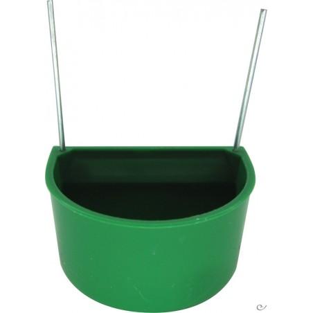 Mangeoire verte avec crochets petit modèle 5.5x4x3.5 cm