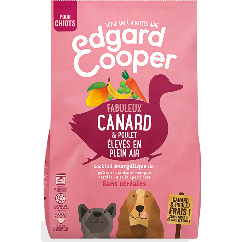 Croquette Puppy Canard & Poulet frais élevés en plein air 700gr - Edgard & Cooper 9486208 Edgard & Cooper 7,66€ Ornibird