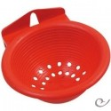 Nest with plastic hooks red 11.5 x 5.5 cm