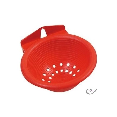 Nid en plastique avec crochets rouges 11,5 x 5,5cm