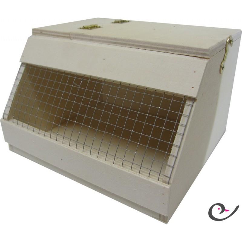 boite de transport pour oiseaux en bois nr1 16cm. Black Bedroom Furniture Sets. Home Design Ideas