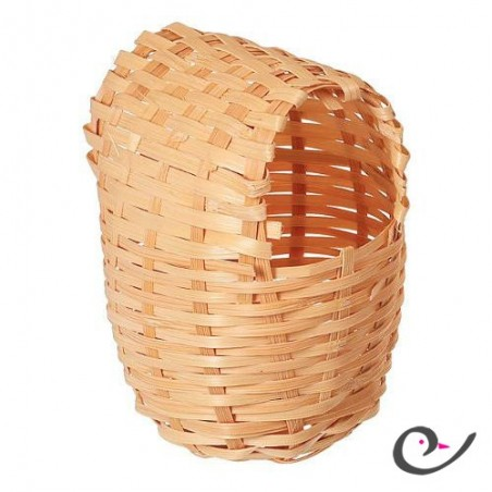 Nest wicker for exotic 13x11x16cm