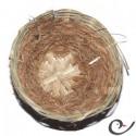 Nido de mimbre y coco para canarias 11.5 cm