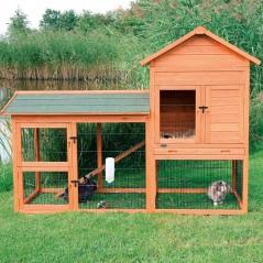 Clapier petits animaux avec cour extérieure 199x146x93cm - Trixie 62332 Trixie 369,00€ Ornibird