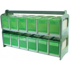 Transport case with 12 compartments 71 x 22 x 43 cm h 258 2G-R 149,02 € Ornibird