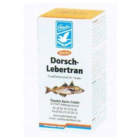 Cod liver oil (Lebertran dorsch) 250ml - Backs