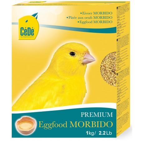 Pâtée demi-grasse aux œufs pour canaris Morbido 1kg - Cédé
