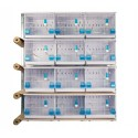 Batteries of 12 cages 45x30x36 - New Canariz