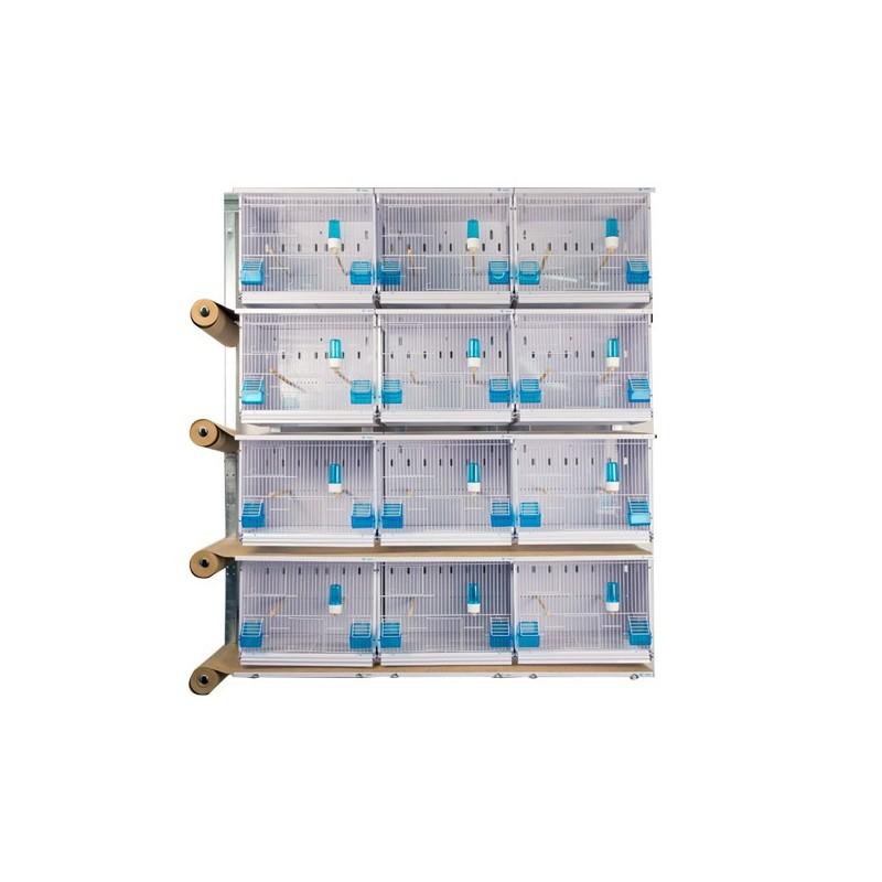 Batteries de 12 cages 45x30x36 - New Canariz