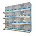 Batteries de 12 cages 58x30x36 - New Canariz