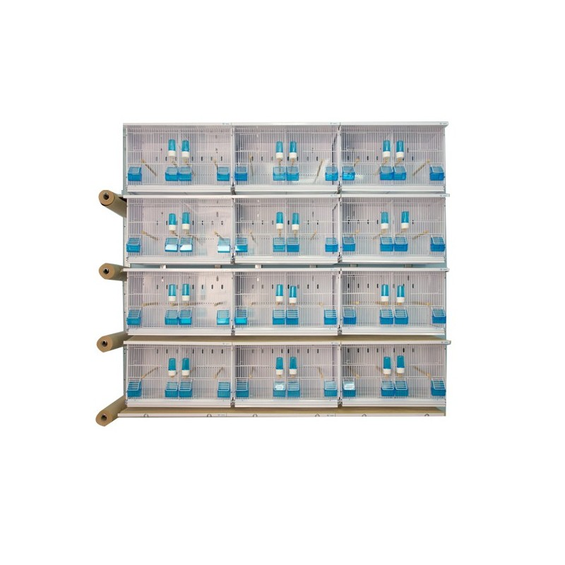 Batteries de 12 cages 63x40x40 - New Canariz