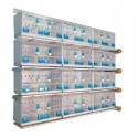 Batterie de 12 cages 64x30x34 Modèle Champion- New Canariz