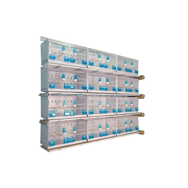 Batterie de 12 cages 64x30x34 Modèle Champion- New Canariz 3000 New Canariz 1,250.00 Ornibird