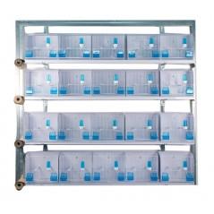 Batteries de 20 cages d'exposition 35x17x30 - New Canariz
