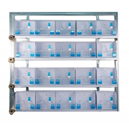 Batteries de 20 cages d'exposition 35x17x30 - New Canariz 3300 New Canariz 938,38 € Ornibird