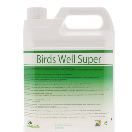 Birds Well Super, détergent et désinfectant 5L - BusyBirds